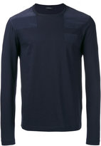 Joseph Silk shoulder patch jumper - men - Silk/Cotton - S
