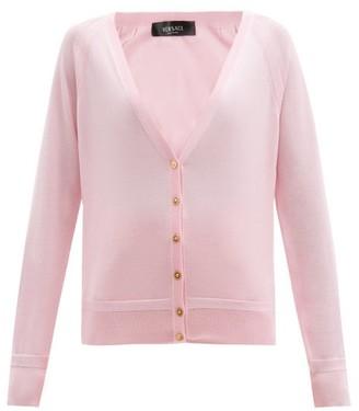 Versace Medusa-button Jersey Cardigan - Pink