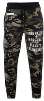 Franklin and Marshall Mens Camo Joggers Fleece Jogging Bottoms Trousers Pants
