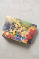 Anthropologie Watercolor Rose Clutch