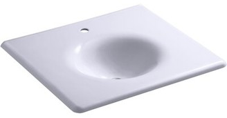 Kohler Iron/impressions 25-in Vanity-top Bathroom Sink with Single Faucet Hole Top Finish: Lavender Gray