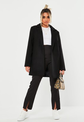 Missguided Petite Black Basic Formal Coat