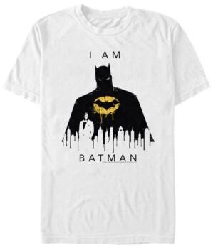 Fifth Sun Dc Men's I Am Batman City Silhouette Short Sleeve T-Shirt