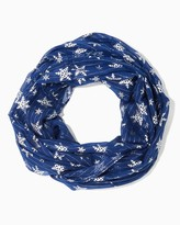 Charming charlie Foil Snowflake Infinity Scarf