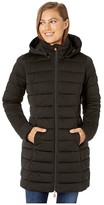 Save The Duck Sold 9 Puffer Coat with Detachable Hoodie (Black) Women's Clothing