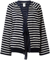 Alberta Ferretti striped tie-fastening cardigan - women - Silk/Cotton - 40