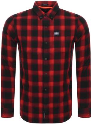 Superdry Long Sleeved Check Shirt Red