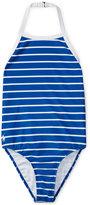 Ralph Lauren Striped One-Piece Swimsuit, Big Girls (7-16)