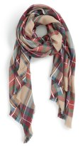 Sole Society Plaid Blanket Scarf