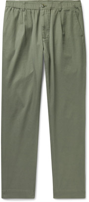 Bellerose Cotton-Twill Cargo Trousers - Men - Green