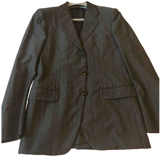 Prada Anthracite Wool Suits