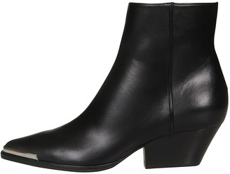 Sergio Rossi Side Zip Ankle Boots