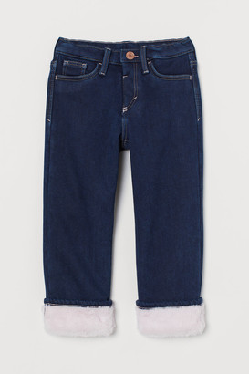 H&M Pile-lined Straight Fit Jeans