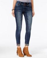 Indigo Rein Juniors' Cuffed Fischer Wash Skinny Jeans