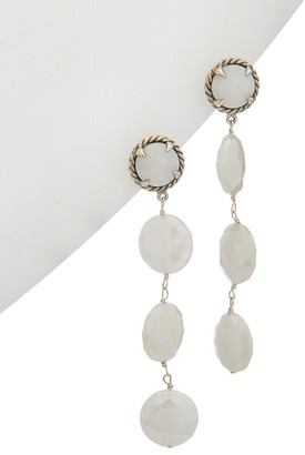 Alanna Bess Spring Silver White Agate Earrings