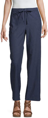 Liz Claiborne Womens Wide Leg Pull-On Pants