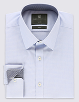 Limited Edition Cotton Rich Slim Fit Geometric Print Textured Shirt
