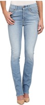 7 For All Mankind High Waist Straight Jeans in Light Sky