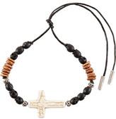 Saint Laurent Patti Wood, Cotton And Howlite Bracelet