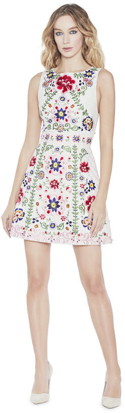 Alice + Olivia Lindsey Embroidered Structured Dress