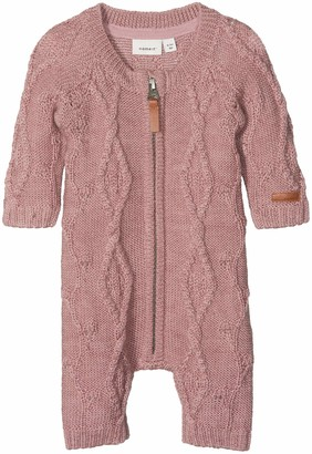 Name It Baby Girls' Nbfwrilla Wool Ls Knit Suit Noos Romper