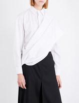Chalayan Draped-overlay cotton shirt