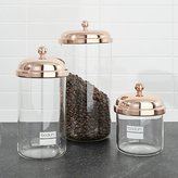 Crate & Barrel Bodum ® Chambord Classic Copper Storage Jars Set of Three