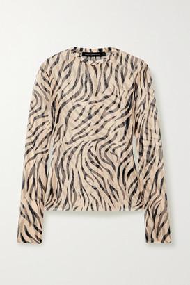 Sally LaPointe Zebra-print Stretch-mesh Top