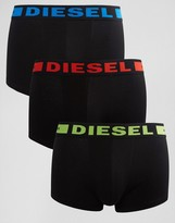 Diesel Trunks In 3 Pack Black