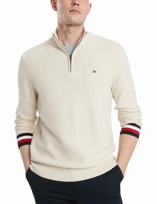 Tommy Hilfiger Men's Cotton Quarter Zip Sweater
