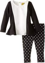 Nicole Miller Baby Girls Color Block Textured Knit Tunic Legging Set