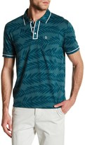 Original Penguin Short Sleeve Slim Fit Palm Print Polo
