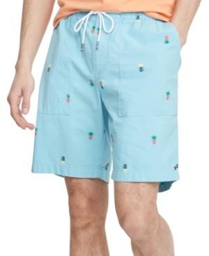 "Tommy Hilfiger Men's Pineapple Print Seersucker 9"" Shorts"