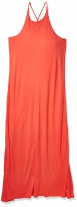 A X Armani Exchange Women's Flowy Halter Single Jersey Maxi Dress