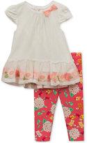 Rare Editions 2-Pc. Net Tunic & Leggings Set, Baby Girls (0-24 months)