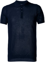 Roberto Collina net polo shirt - men - Cotton - 52