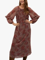 Thumbnail for your product : MANGO Floral Print Ruched Midi Dress, Rust/Copper