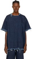 Marques Almeida Indigo Denim Oversized T-shirt