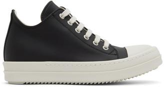 Rick Owens Black Low Bumper Sneakers