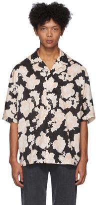 McQ Black and White Kimono Printed Shirt