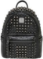 MCM Mini Stark Studded Leather Backpack