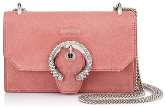 Jimmy Choo PARIS Candyfloss Suede Mini Bag with Crystal Buckle