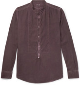 Massimo Alba - Grandad-collar Garment-washed Modal And Cotton-blend Shirt