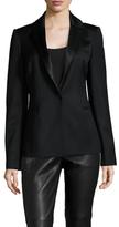 Kimora Lee Simmons Wool Silk Blazer