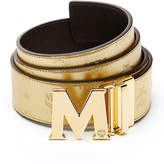 MCM Metallic Embossed Visetos Belt