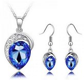 Fancy Jewelry Sets Gift Fancy Fashion Lady Jewelry Set Tear Drop Shaped Necklace & Earring For Gift