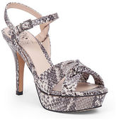 Vince Camuto Philicia Snake-Print Leather Platform Sandals