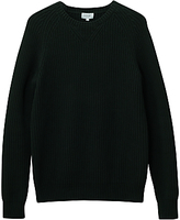 Jigsaw Cotton Fisherman Rib Crew Jumper