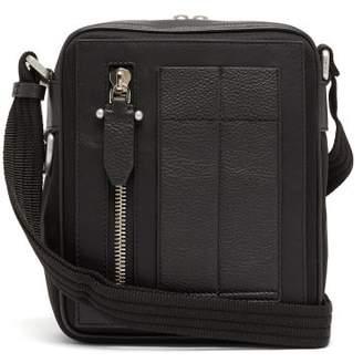 Neil Barrett Leather Trimmed Canvas Cross Body Bag - Mens - Black