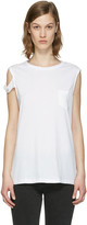 Helmut Lang White Strappy T-shirt